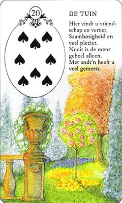 Lenormand gratis drie kaartenlegging for Tuin lenormand