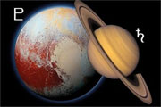 Saturnus conjunct Pluto